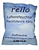 20x 450g reilo Luftentfeuchter Granulat (Calciumchlorid) im Vliesbeutel - Nachfüllpack für Raumentfeuchter...