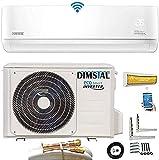 Quick-Connect INVERTER Split Klimaanlage mit Wärmepumpe Klimagerät ECO Smart WiFi/WLAN komplett Set inkl. 5m...