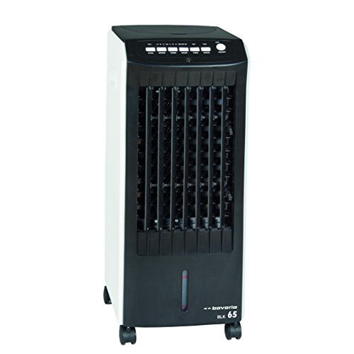 bavaria Luftkühler BLK 65 (65 W, 6,5 l Wasserbehälterinhalt, Timerfunktion, inkl. 2 Kühlakkus und 4 Lenkrollen) -