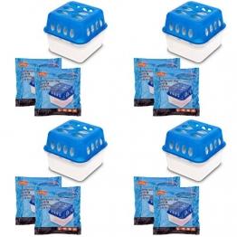 4X Ultra Fresh Luftentfeuchter Feuchtigkeits-Stopper mit Nachfüll-Beutel Granulat - 1