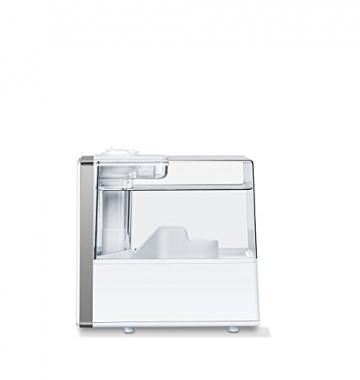 Beurer LB 88 Luftbefeuchter, mikrofeine Zerstäubung mit Ultraschall, bakterienarm, für Räume bis 48 m², weiß - 7