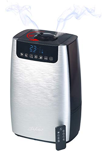 Carlo Milano Luftreiniger: Digitaler Ultraschall-Aroma-Luftbefeuchter & -reiniger, Ionisator & UV (Diffusor) - 1