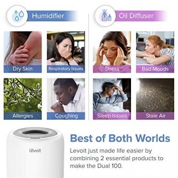 Levoit Ultraschall Luftbefeuchter Humidifier mit Top-Füllung ultraleisem Schlafmodus Auto-off, Raumbefeuchter mit Aromatherapie, Kalt Dampf bis 24 m² für Kinderzimmer, Wohn- und Schlafzimmer, Büro - 3