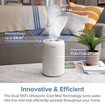 Levoit Ultraschall Luftbefeuchter Humidifier mit Top-Füllung ultraleisem Schlafmodus Auto-off, Raumbefeuchter mit Aromatherapie, Kalt Dampf bis 24 m² für Kinderzimmer, Wohn- und Schlafzimmer, Büro - 4