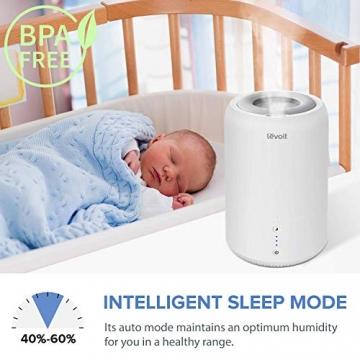 Levoit Ultraschall Luftbefeuchter Humidifier mit Top-Füllung ultraleisem Schlafmodus Auto-off, Raumbefeuchter mit Aromatherapie, Kalt Dampf bis 24 m² für Kinderzimmer, Wohn- und Schlafzimmer, Büro - 5