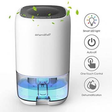 Luftentfeuchter 1000ml Elektrischer Entfeuchter Tragbarer Raumentfeuchter gegen Feuchtigkeit, Leise für Schrank, Badezimmer, Schlafzimmer, Büro, Garage - 1