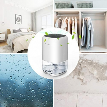 Luftentfeuchter 1000ml Elektrischer Entfeuchter Tragbarer Raumentfeuchter gegen Feuchtigkeit, Leise für Schrank, Badezimmer, Schlafzimmer, Büro, Garage - 7