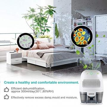 Luftentfeuchter, Aidodo 600ml mini elektrischer raumentfeuchter automatischer entfeuchter leise Dehumidifier für Schmutz und Schimmel zu Hause, Schlafzimmer, Kellerräume, Schrank, Wohnwagen, Büro - 2