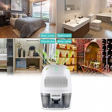 Luftentfeuchter, Aidodo 600ml mini elektrischer raumentfeuchter automatischer entfeuchter leise Dehumidifier für Schmutz und Schimmel zu Hause, Schlafzimmer, Kellerräume, Schrank, Wohnwagen, Büro - 7