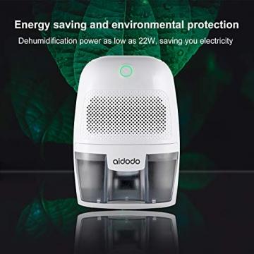 Luftentfeuchter, Aidodo 600ml mini elektrischer raumentfeuchter automatischer entfeuchter leise Dehumidifier für Schmutz und Schimmel zu Hause, Schlafzimmer, Kellerräume, Schrank, Wohnwagen, Büro - 8