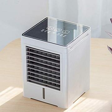 YWW-DJ Tragbarer Luftkühler, Luftbefeuchter USB-Miniklimaanlage for Camping & Auto, 3 Geschwindigkeiten mit Oszillation, 6-Stunden-Timer und Wassertank - 2